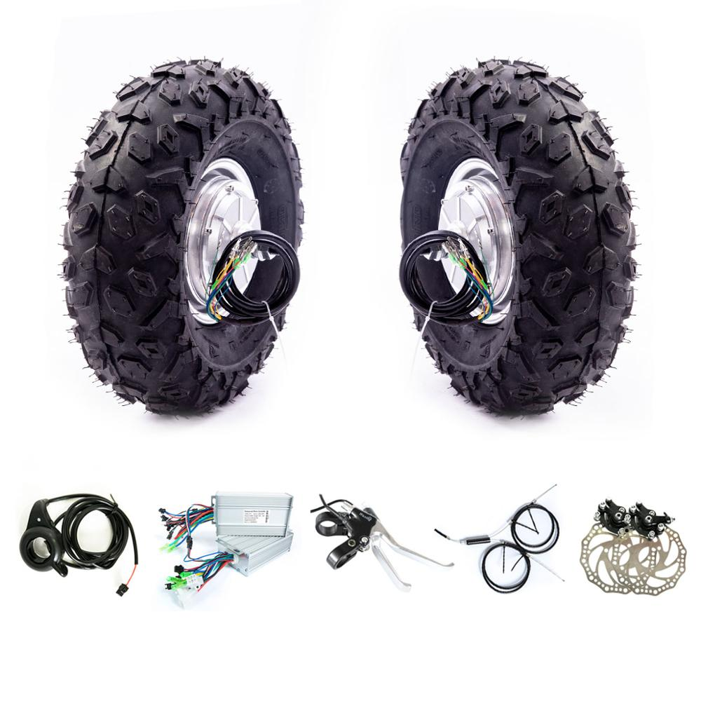 """14.5"""" Dual Drive Tyres Off-road Electric Scooter Double Drive 14.5 inch 24v 36v 48v 1000w 8000w 500w 350w Hub Motor Kit"""