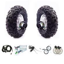"Neumáticos de doble tracción para patinete eléctrico todoterreno, 14,5 pulgadas, 24v, 36v, 48v, 14,5 w, 1000w, 8000w, 500w, Kit de Motor central, 350"""