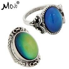 2 шт Античная Серебристый цвет изменение настроения кольца изменение Цвет Температура чувства эмоции набор колец для Для женщин/Для мужчин 008-033