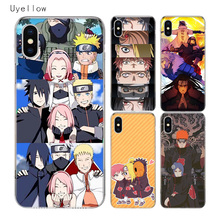 Uyellow Naruto Anime Desig Phone Case For Iphone 5 6 6S 7 8 9 10 Plus Trend Silicone Soft TPU Apple X XR XS MAX Cover Shell