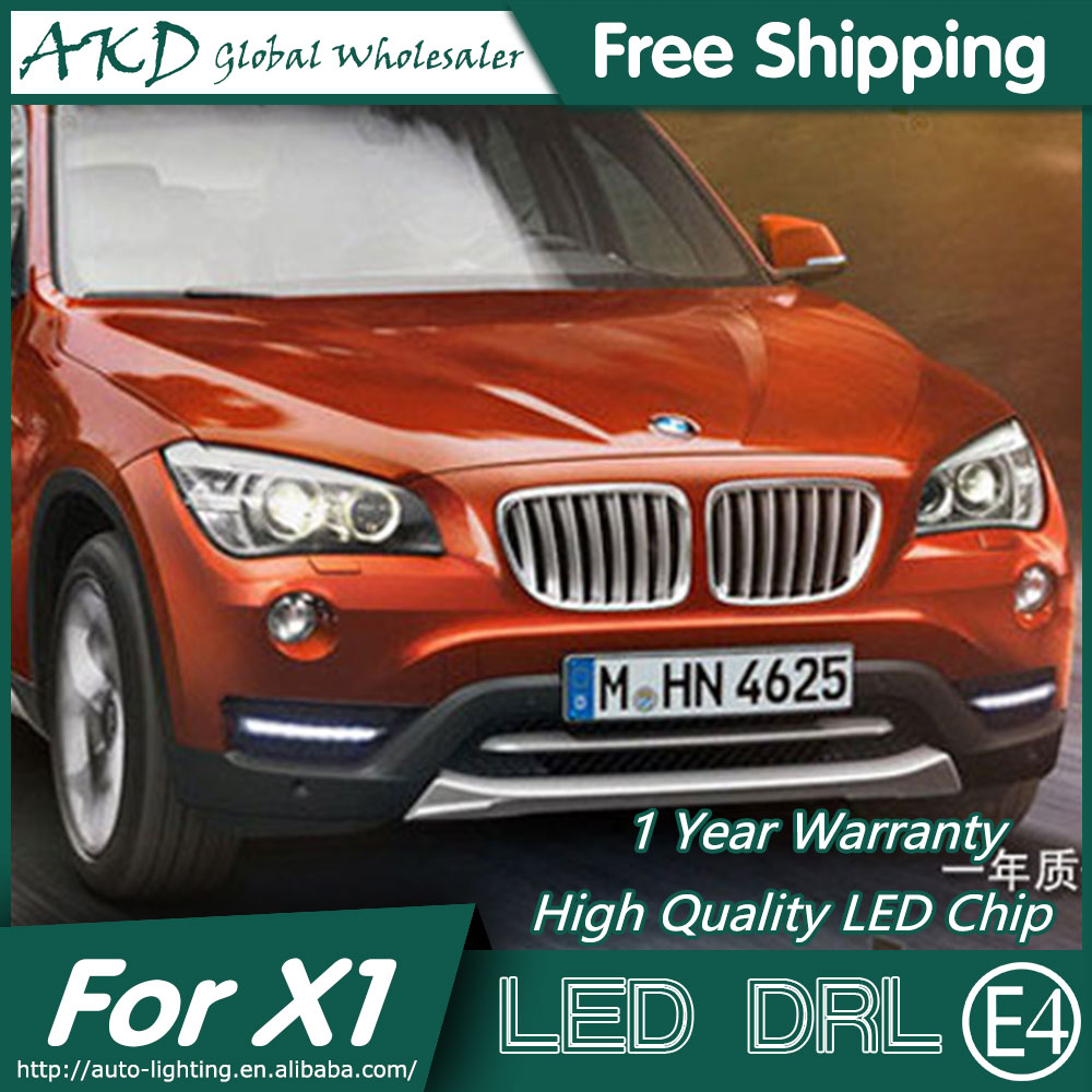 AKD Car Styling LED Fog Lamp for BMW X1 DRL 2013-2014 E84 LED Daytime Running Light Fog Light Parking Signal Accessories akd car styling for ford fiesta drl 2013 2014 cob signal drl led fog lamp daytime running light fog light parking accessories