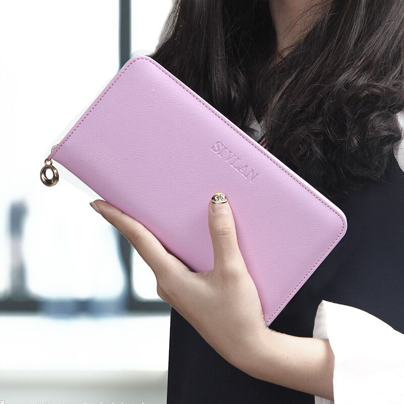 2017 female PU Leather long Zipper Wallets Women coin Purses Cards Holder phone bag For Girls fashion lady Women clutch Wallet 2016 famous brand women clutch wallets top leather long coin purses lady card holder candy color hasp zipper girls phone handbag