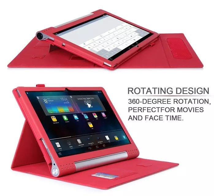все цены на  2 in1 Hand Strap&Card Slot Slim MagSmart Removeable Stand Leather Case for Lenovo Yoga Tablet 2 tablet2 Pro 1380 1380F 13.3 inch  онлайн