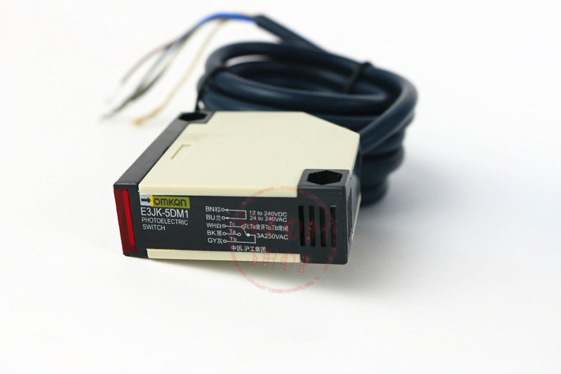 AC+DC Relay output 5-wire NO+NC 5M trough beam photoelectric sensor E3JK-5DM1.5L AC/DC 5m ac90 250v photoelectric sensor beam photoelectric switch relay output infrared sensor ele50s d501jb7