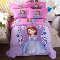 Disney cotton sofia girls bedding set duvet cover bed sheet pillow cases king queen single size