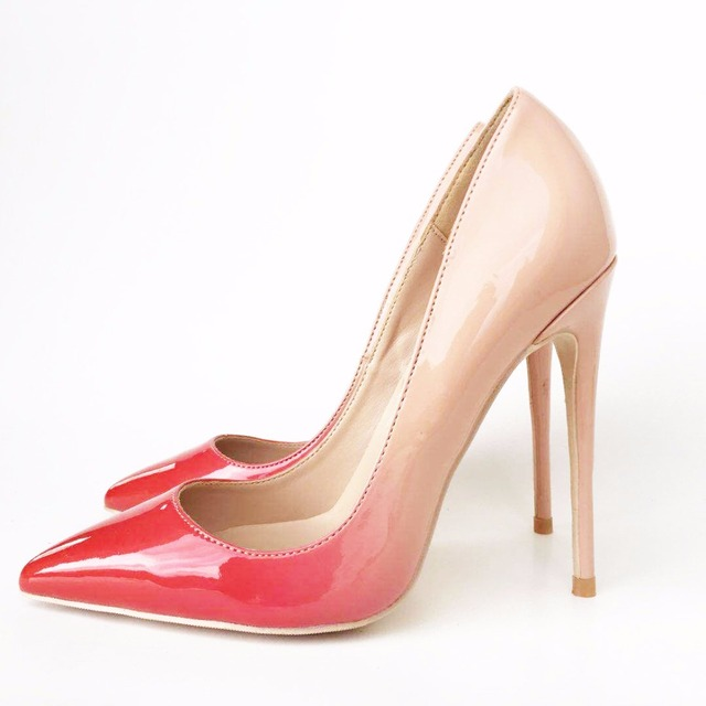8372f904fd04a0 Brand new nude red lady high heels shallow shoes exclusive patent brand PU  leather Ms. 8 cm 10 cm 12 cm high heels