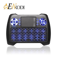10 Pcs Anewkodi T16 Backlit Mini Gaming Keyboard 2 4GHz Wireless Fly Air Mouse With Touchpad