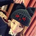 vivi magazine small little demon cat ears knitted hat knitted hat winter thermal handmade cap