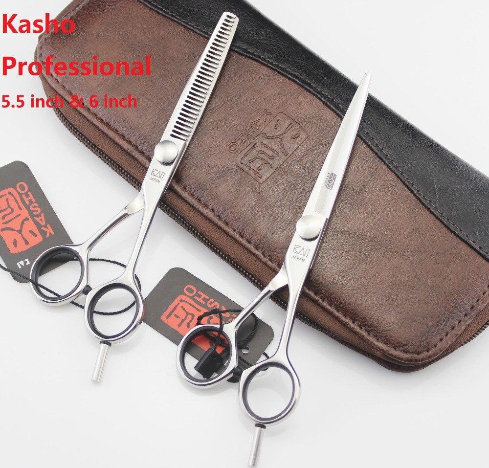Kasho 5.5 אינץ '6 אינץ' מקצועי מספריים שיער - טיפוח השיער וסטיילינג