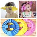 Macio Crianças Shampoo Bath Shower Cap Crianças Touca de Banho Do Bebê Viseira Ajustável Hat Lavar o Cabelo Escudo com a Orelha
