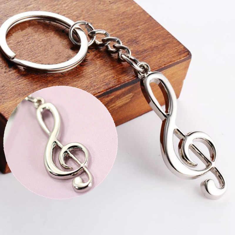 HOT Criativo Legal Símbolo de Música Nota Musical Chaveiro Chaveiro Chaveiro Keyfob Chaveiro CN No Carro