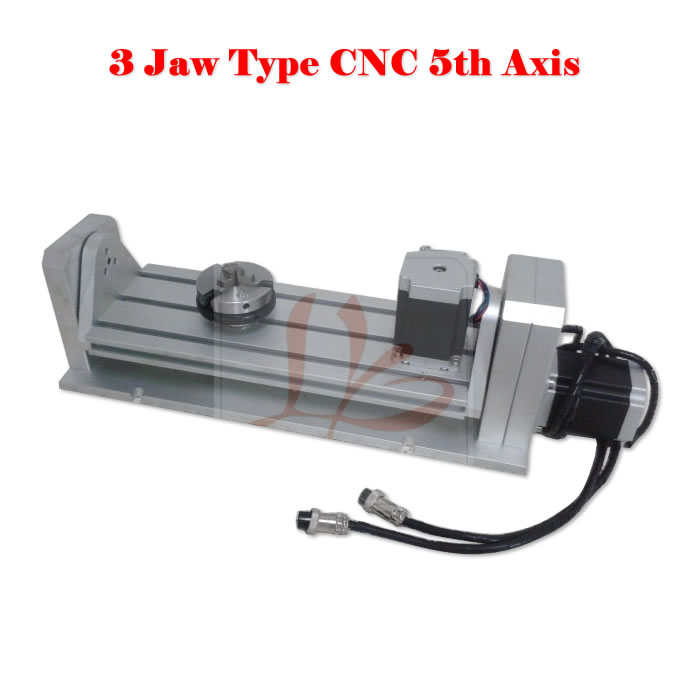 CNC Rotary axis three jaw chuck type for cnc router engraving machine cnc 5axis a aixs rotary axis t chuck type for cnc router cnc milling machine best quality