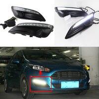 2PCS LED Daytime Running Light DRL White Drive Lamp For Ford Fiesta2014-2015