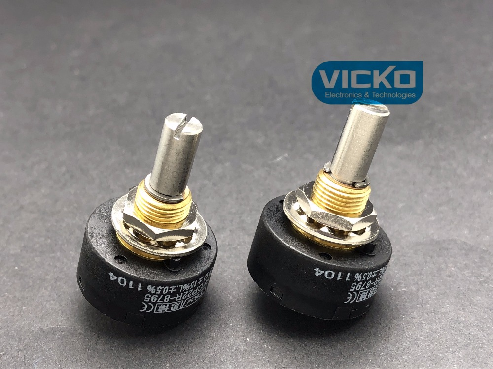 [VK] SFCP22R-8795 SFCP22R 1K 2K 5K 10K Japan ORIGINAL SAKAE precision potentiometer switch 10pcs 3296w 3296 50 100 200 500 ohm 1k 2k 5k 10k 20k 50k 100k 200k 500k 1m ohm 103 100r 200r 500r trimpot trimmer potentiometer