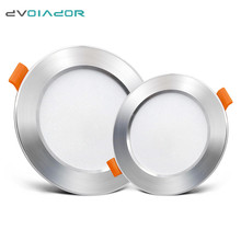 LED Downlight Ceiling silvery 12w 9w 7w 5w 3w Round Recessed Lamp 220V 110V Led Bulb Bedroom Kitchen Indoor Spot Lighting