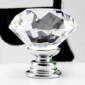Useful 10 Pcs 30mm Diamond Shape Crystal Glass Cabinet Knob