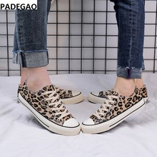 6d3d8a380d5777 Printemps 2019 nouvelles chaussures en toile imprimé léopard version sud- coréenne de la tendance des