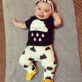factory direct sale infant toddler pure cotton casual clothing sets 2016 fashion cloud print baby clothing sets