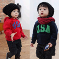 Hot Sale New 2015 children t shirts letter USA printed boys hooded t shirt ,girls winter warm hoodies Autume Tops & Tees