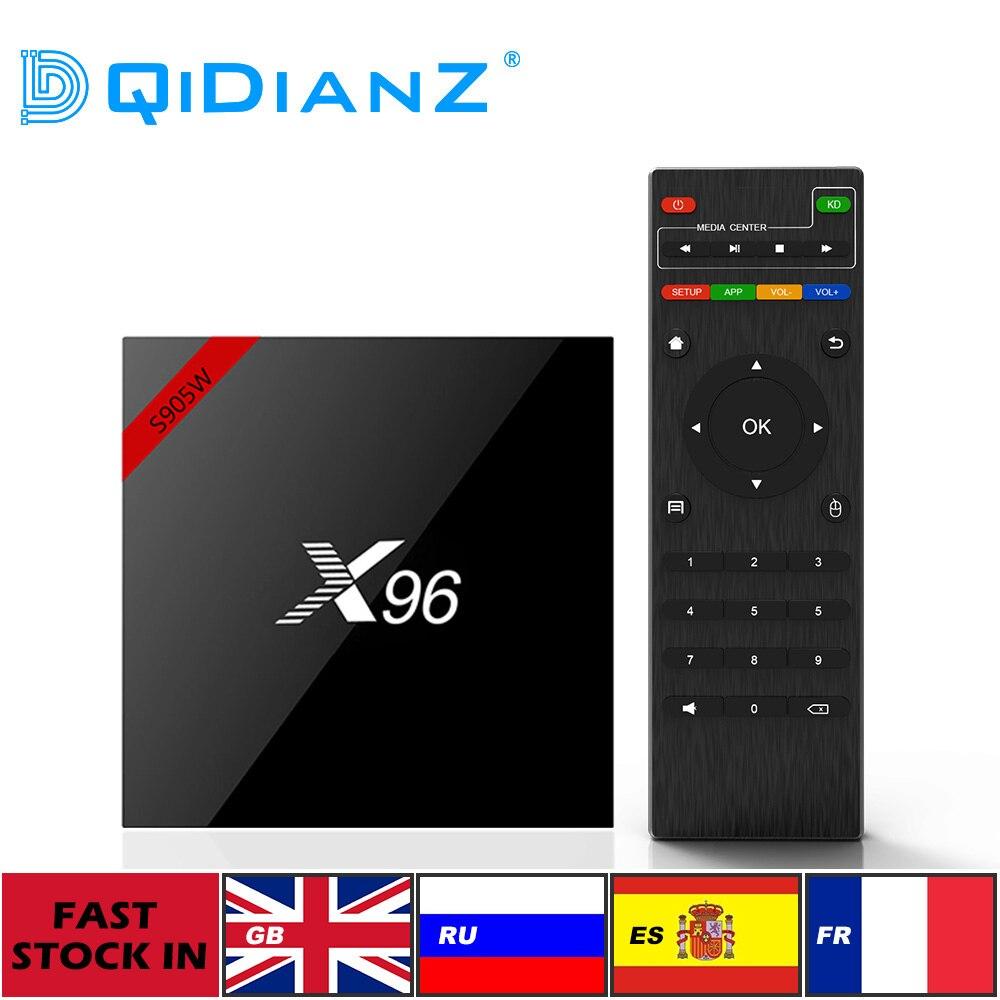 Original X96W Smart TV BOX Android 9.0 2GB 4GB +16GB 32GB Quad Core HD2.0 4K*2k Amlogic S905W Set-Top Box X96 W Media Player