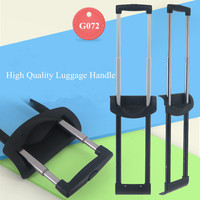GUGULUZA Luggage Replacement Telescopic Aluminum Trolley Handle Pull Rod with transparent handle for Luggaga/suitcase G072