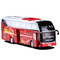 High Simulation Exquisite Collection Toys Caipo Car Styling Tourist Bus Model 1 32 Alloy Bus Model