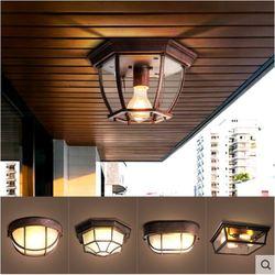 Amerykańska lampa balkonowa wiatr przemysłowy retro ganek badania alejek lampa do korytarza loft aluminium sztuki mała lampa sufitowa