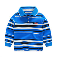 High Quality Polo Boys Shirt For Kids Casual Striped Shirt Brand Boys Clothes Long Sleeve Blouse