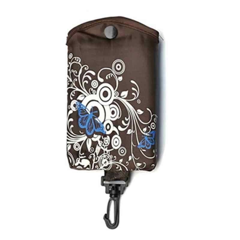 Sac à provisions pliable papillon fleur Oxford tissu sac à bandoulière Portable écologique sacs d'épicerie fourre-tout réutilisable pour dames