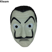 2018 Hot Famous Movie Theme  La Casa De Papel Face Mask Salvador Dali Cosplay Realistic Party Funny Toy