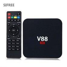 SIFREE V88 Quad X96 T6 Smart TV Box Rockchip 4 K Android 6.0 1G/8G USB 4 4 K 2 K WiFi Completo Cargado Quad Core 1.5 GHZ Medios jugador