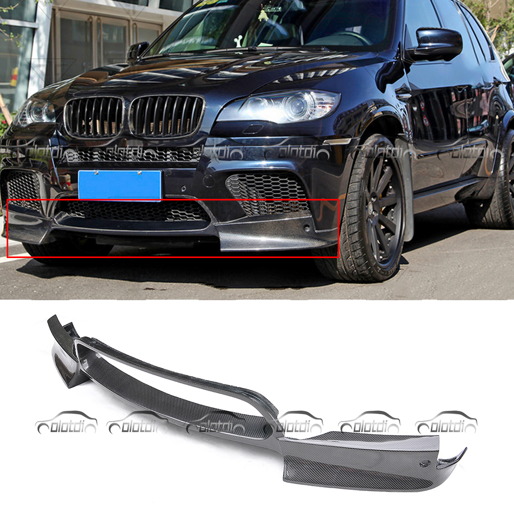 For BMW E70 E71 X5M X6M For ARKYM Style Carbon Fiber Front Lip Bumper Spoiler Car Styling