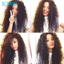 Glueless Kinky Curly Full Lace Human Hair Wigs Long Virgin Brazilian 4X4 Silk Top Kinky Curly Lace Front Wigs With Baby Hair