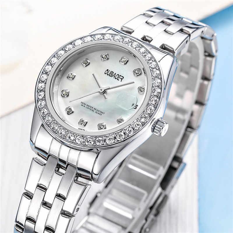 Reloj de cuarzo de diamantes de oro OUBAOER para mujer, reloj femenino de lujo de marca famosa, Montre, relojes femeninos