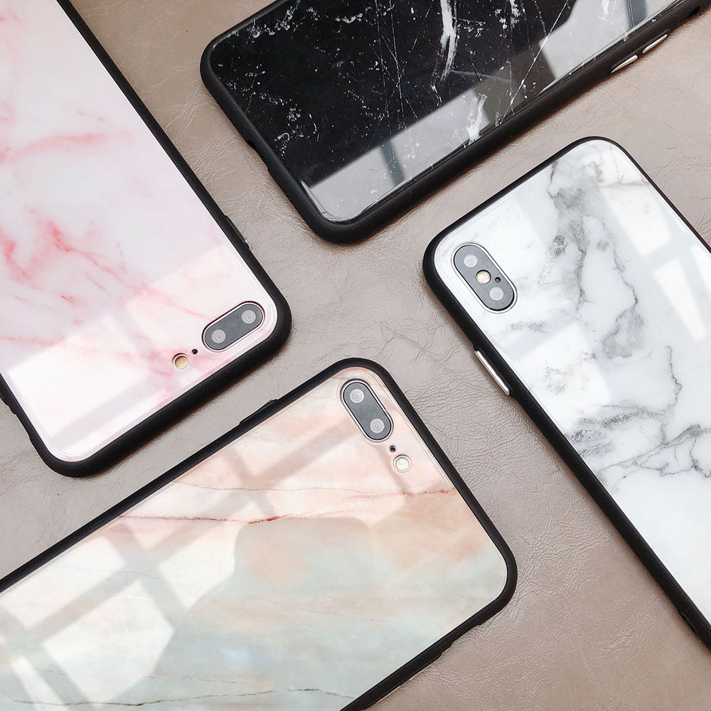 iphone xs marble glass case