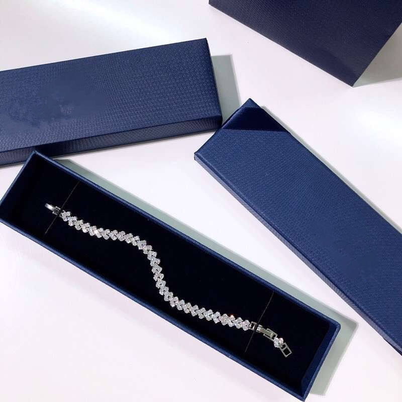 2020 Fashion Jewelry Roman Bracelet Heart Shape Bracelet Crystal From Swarovskis For Women And Female As Cute Gifts