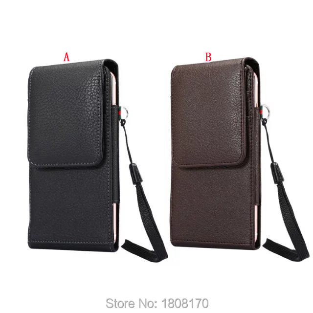 Universal Clip belt Holster Hasp Leather Case For iPhone 7 6 6S Plus Samsung Galaxy S8 S6 S7 Edge S5 Note 5 2 3 4 Card Bag 1pcs