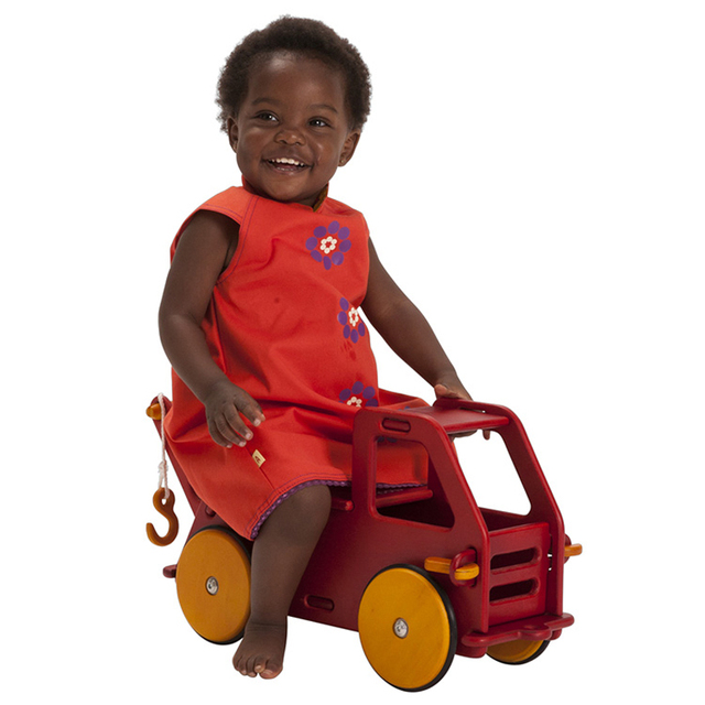 HABA Moover Baby Truck Walker Red And Nature color for available
