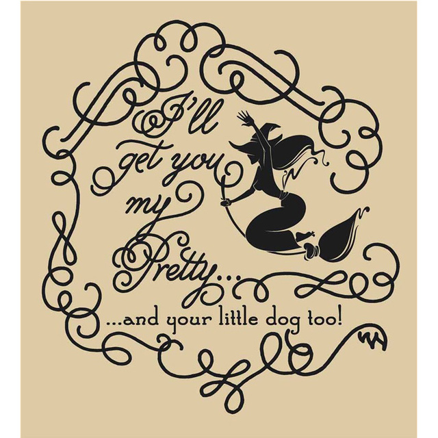 happy halloween girl witch ill get you my pretty room vinyl carving wall decal - Happy Halloween Stickers