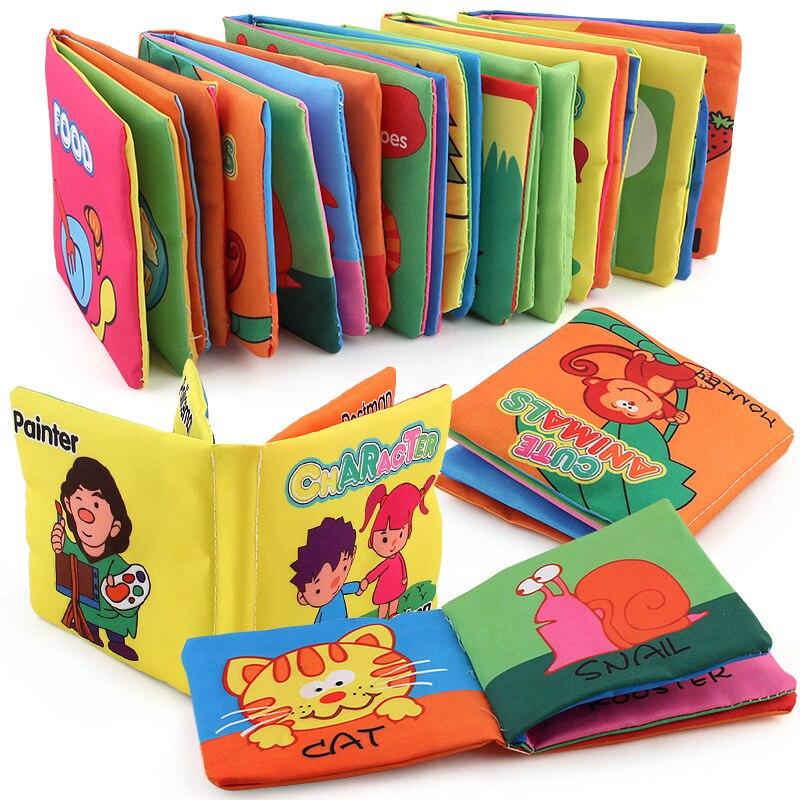 2018 Yumuşak kitap Bebek Erken bilişsel Gelişim Benim Sessiz Bookes bebek eğitici Katlanır bez kitap bebek kitabı bez kitap