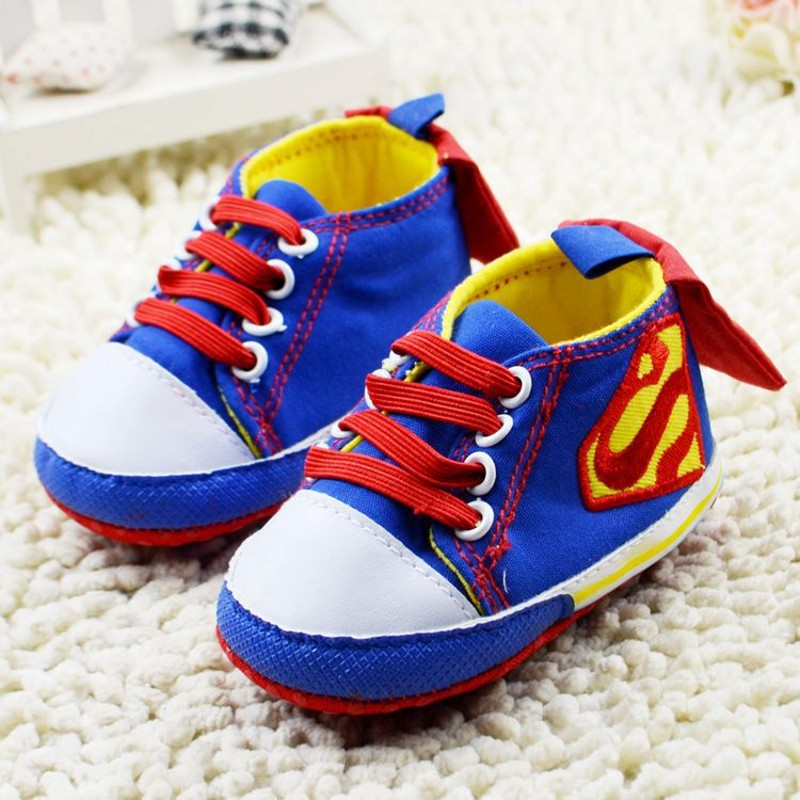 b67f471ce4bae Free Shipping Spring Baby Superman Shoes Canvas Boy Girl Batman Baby  Toddler Shoes Sapatos De Bebe First Walkers