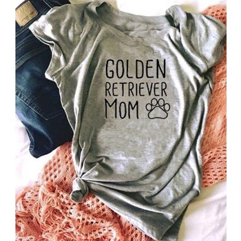 Golden Retriever Mom Letters Printed Women O-Neck Casual Cotton Funny Dog Moms Animal aesthetic Lover slogan T-Shirt tee tops