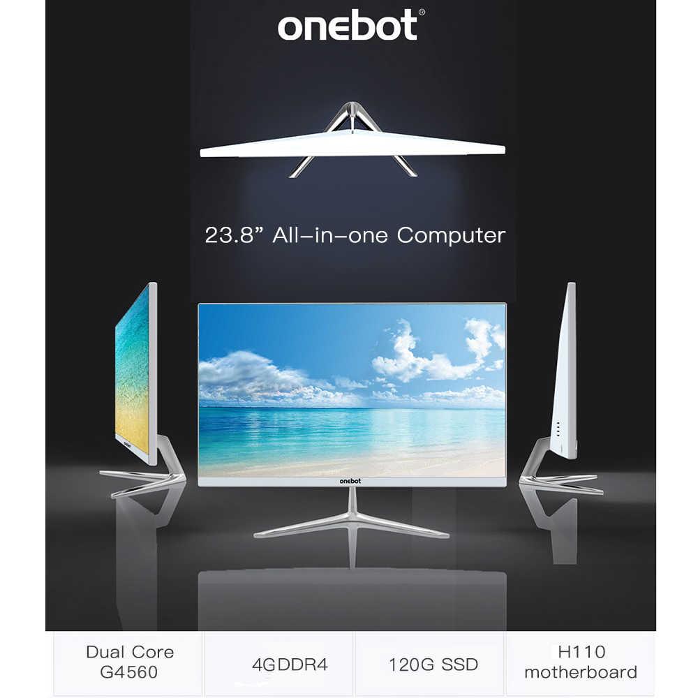 "Onebot L2416 G4400 120 جرام SSD 4 جرام DDR4 1920*1080 23.8 ""الكل في واحد الكمبيوتر سطح المكتب ثنائي النواة الكل في واحد PC ل مكتب تجارية (سابقا)"