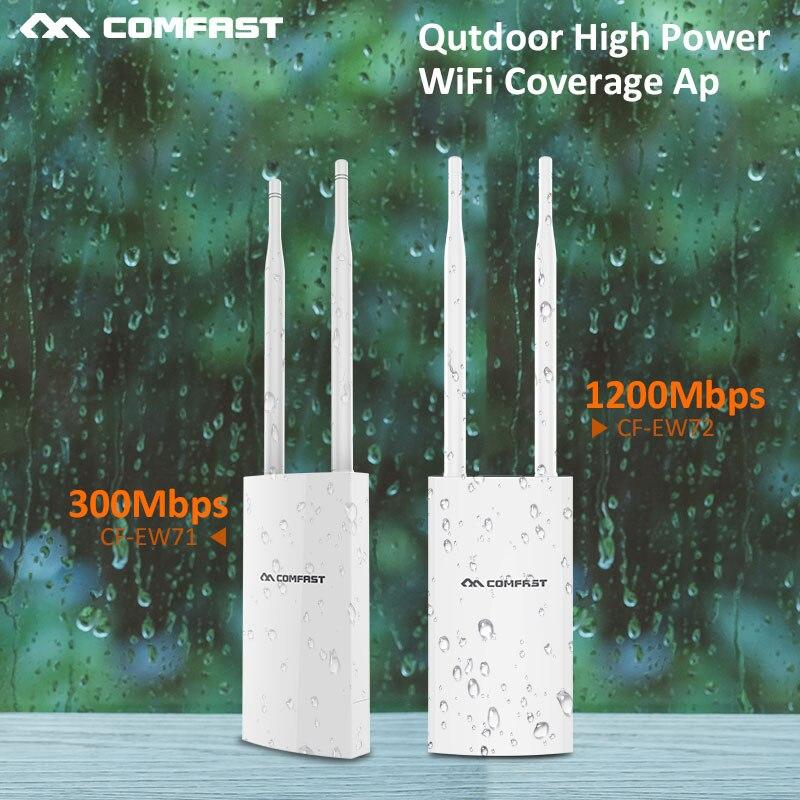 Pont de routeur extérieur wi-fi Comfast accès WIFI 300-1200Mbs 802.11AC routeur AP sans fil extérieur double bande nanostation CF-EW72