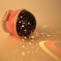 2pcs Amazing LED Rotation Night Sky Projector Starry Night Light Star Flashing Lamp Romantic Fairy Tale 5V Great Decoration