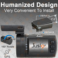 Jusky Humanized Car Camera Mini 0806 Ambarella A7 1296P Super HD Night Vision Car DVR GPS Dash Cam Video Registrator Recorder