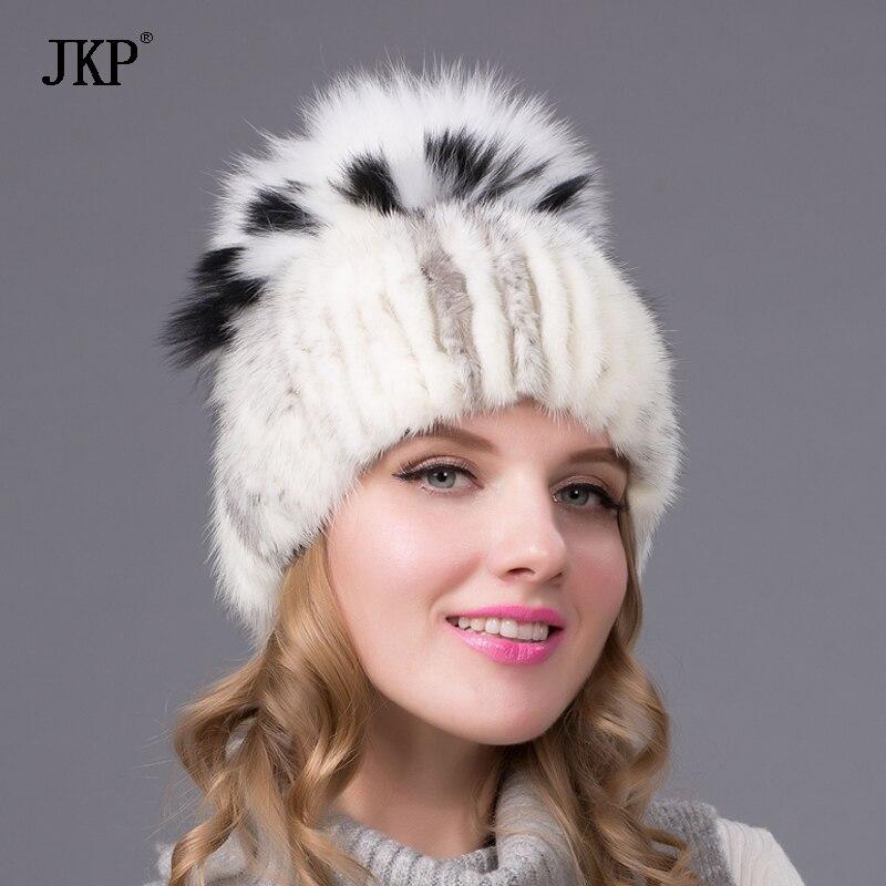 JKP chapeaux de fourrure des femmes tricotées chapeau de fourrure de - Accessoires pour vêtements - Photo 4