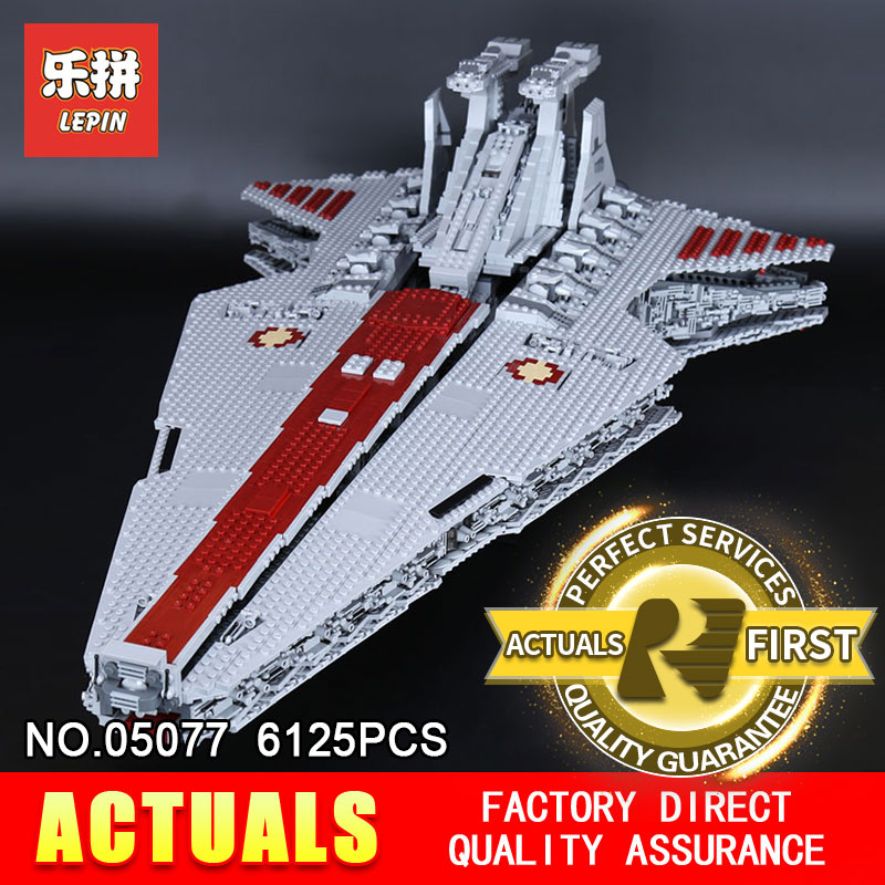Lepin 05077 6125PCS Star Classic Model Wars The Ucs ST04 Republic Cruiser Educational Building Blocks Bricks Toys Model Gift lepin 05077 stars series war the ucs rupblic set star destroyer model cruiser st04 diy building kits blocks bricks children toys