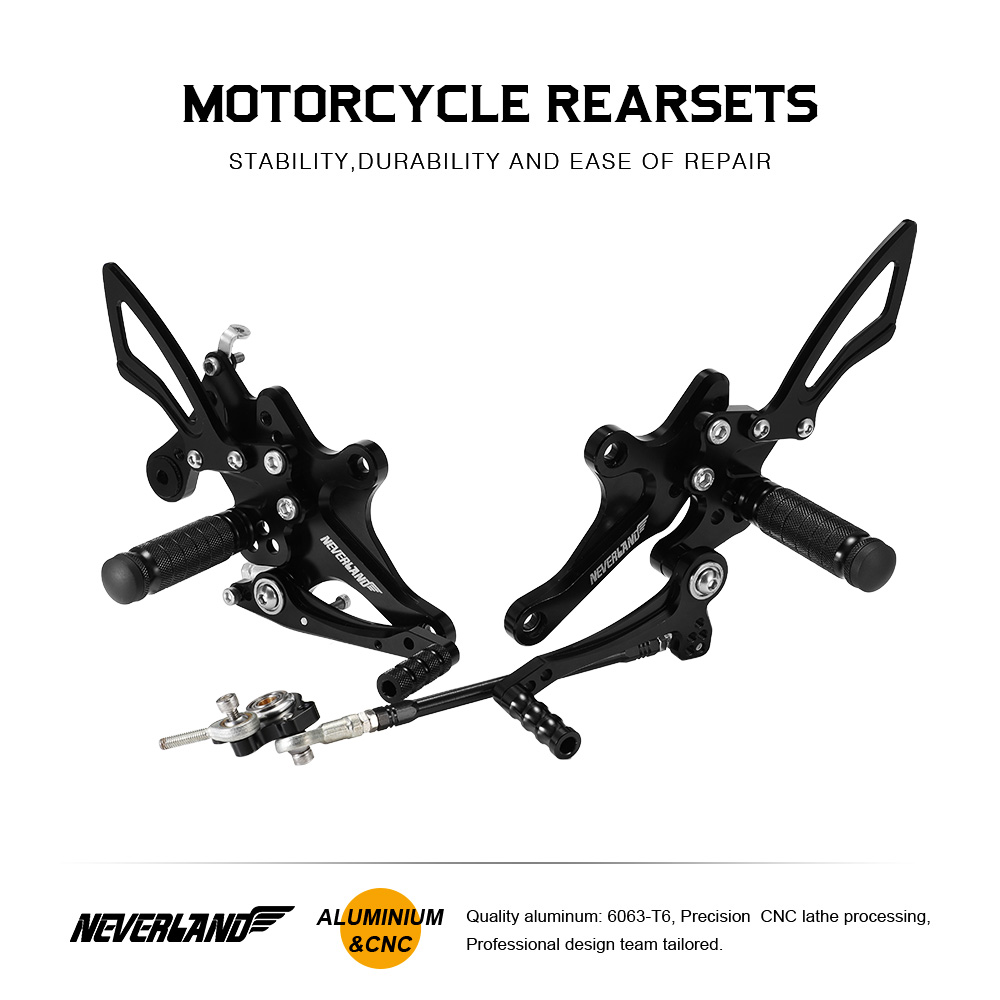 CB1000R 2008 2009 2010 2011 2012 2013 2014 2015 2016 Rearset Footrests Motorcycle Footpegs Rear Sets Foot Rest Pegs For HONDA in Foot Rests from Automobiles Motorcycles