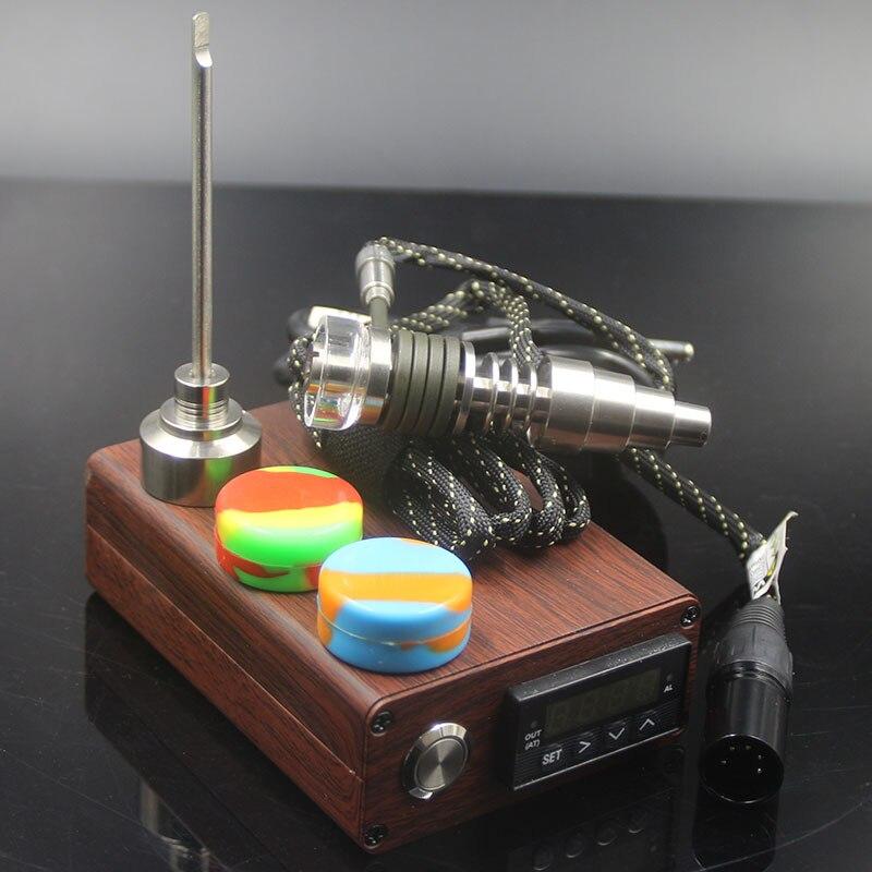 3 couleurs E ongles D ongle dab électrique D ongle TC PID boîte Dabber Dab plate-forme réglable titane/Quartz hybride E bouchon de carbu numérique